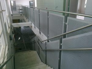 Generic Repeat Design (GRD) primary school with steel feature stairs, balustrades, handrails, gates and railings.