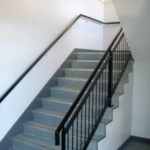 Mild steel stair balustrades and handrails