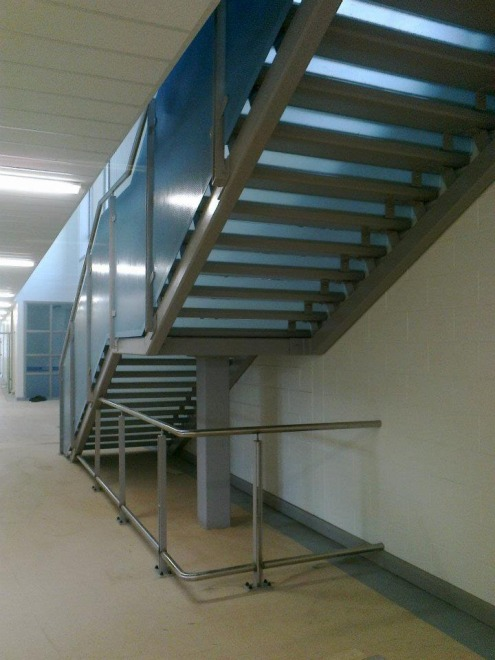 Generic Repeat Design (GRD) primary school with steel feature stairs, balustrades, handrails, gates and railings