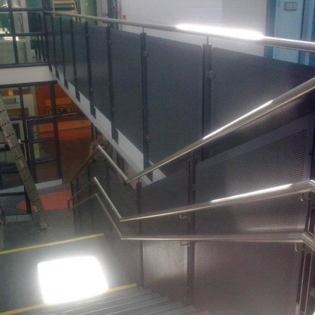 Generic Repeat Design (GRD) primary school with steel feature stairs, balustrades and handrails.