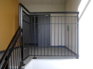 Mild steel stair balustrades and handrails