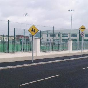 Galvanised railings