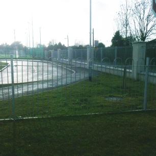 Galvanised railings at Donabate Portrane Educate Together