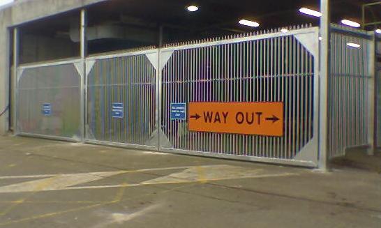 Gates at Customs, Rosslare Europort