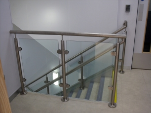 Steel and glass staircasev