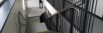 Internal stair balustrades and external galvanised gates and railings