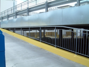 Multistorey car park railing